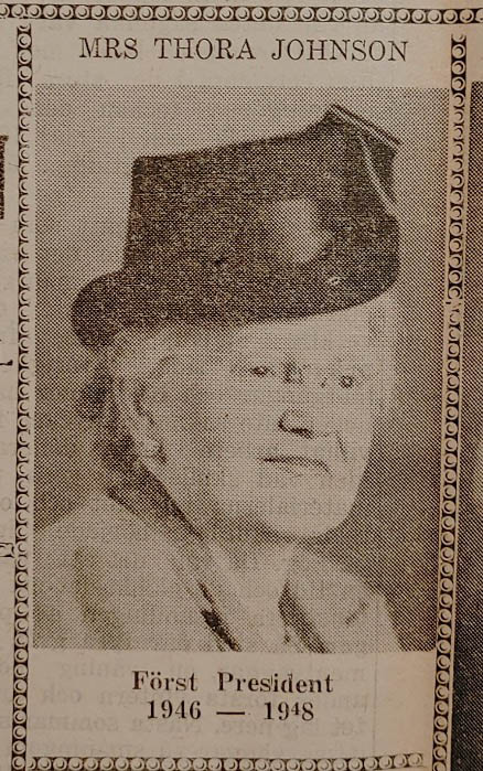 Thora Johnson, First President of the Swedish Canadian Rest Home Association